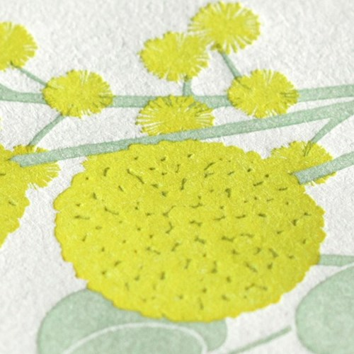 활판 인쇄 레터세트 - Press Bouquet Yellow