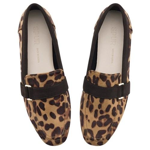 SPUR[스퍼] 로퍼할인 OF9045 Leopard belt loafer 레오파드