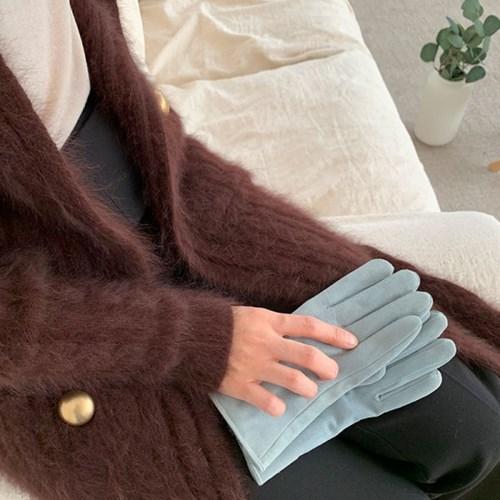 여성용 리얼 스웨이드장갑 (12color)
