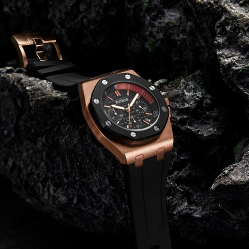 루이마스 남성 크로노 우레탄밴드 손목시계 RM540G-RG