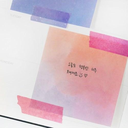 모모팝 컬러 떡메모지 3종 세트_(1683342)