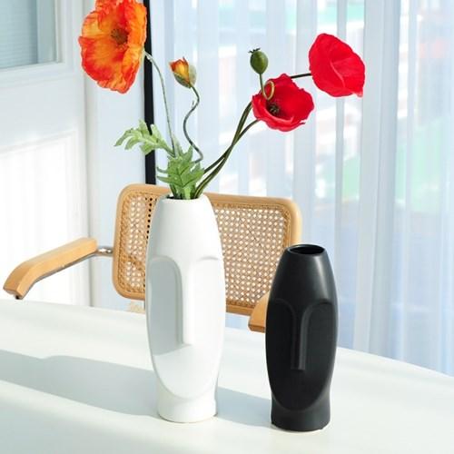 모아이 도자기 화병 대형 화기 꽃병 vase