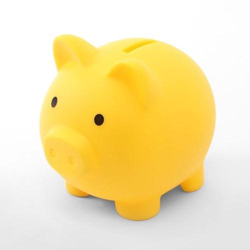 배부른 돼지저금통(옐로우)/ 동전저금통