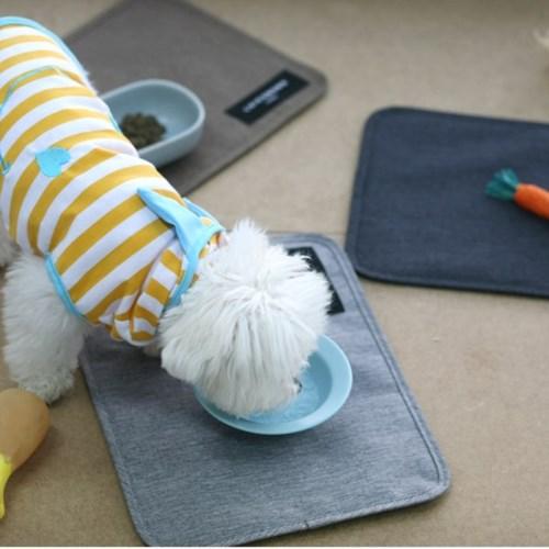 [루이까몽] 두다 강아지 고양이 방수 식기매트_(1497495)
