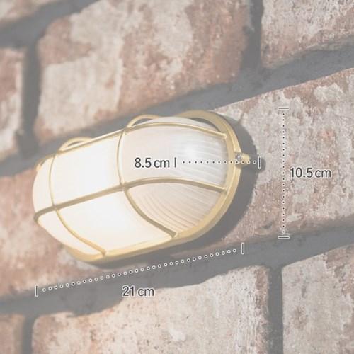 투톤 벌크 타원 벽등