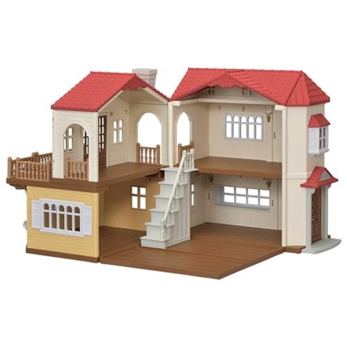 [실바니안공식]5302-불이 들어오는 빨간지붕 이층집