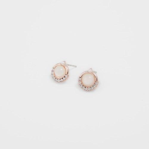 [쥬디앤폴] 블랑 라운드 크리스탈 귀걸이 E51354