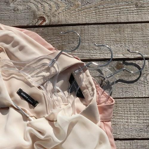 남성 여성 아동 옷가게 논슬립 투명 플라스틱옷걸이 10묶음