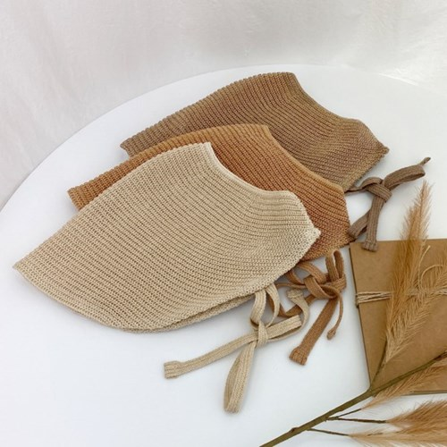 여성 여름 니트 썬캡 턱끈 보넷 자외선차단 햇빛가리개모자