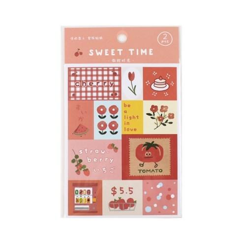 [cardlover] Sweet time STICKER 6종