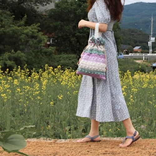 꽃분이 복조리백 / 큰 복주머니 - 코바늘키트