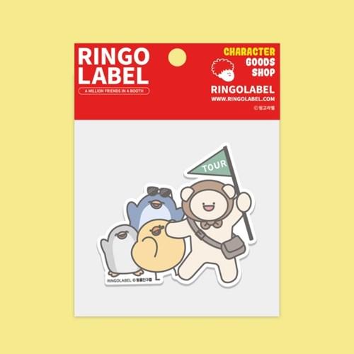 [링고라벨] 동물친구들 PVC 스티커팩 6pcs