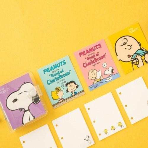[Peanuts] 3공 노트_스누피와 친구들_리필지