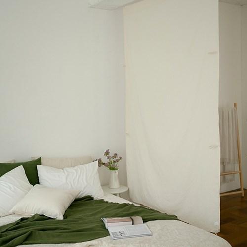 [9/21~예약배송] 내추럴 패브릭 순면 파티션 가벽 140x220cm