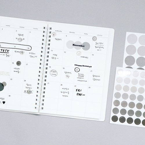 [SET] 기본 스티커 1700 (6종)-원형