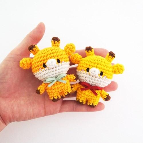 (손뜨개 DIY 키트/튜토리얼 영상 포함) 코바늘 기린 인형 만들기