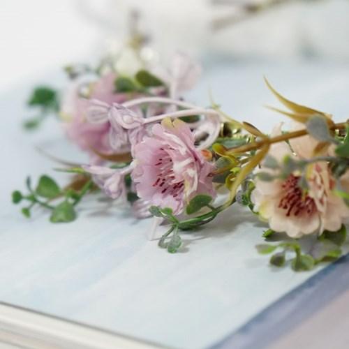 내츄럴 들꽃 화관