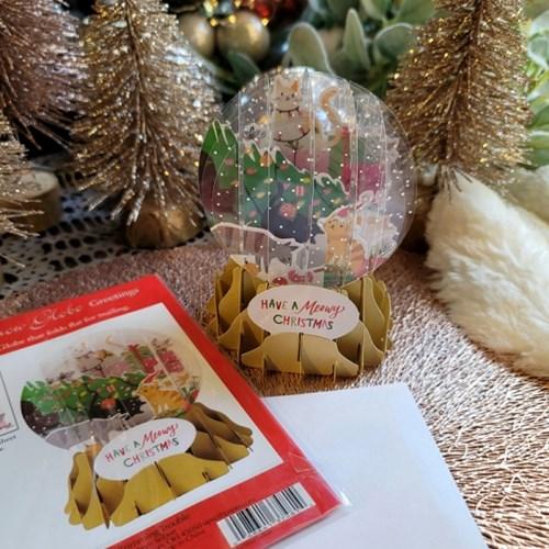 스노우볼 크리스마스 입체 카드_(312593)