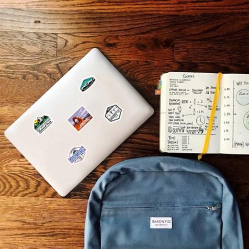 트래블 캠핑 노트북 여행가방 데코스티커 - 마운틴 - 50매