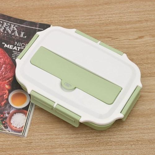 쿠킹나인 수저통 식판도시락(3구) (그린)