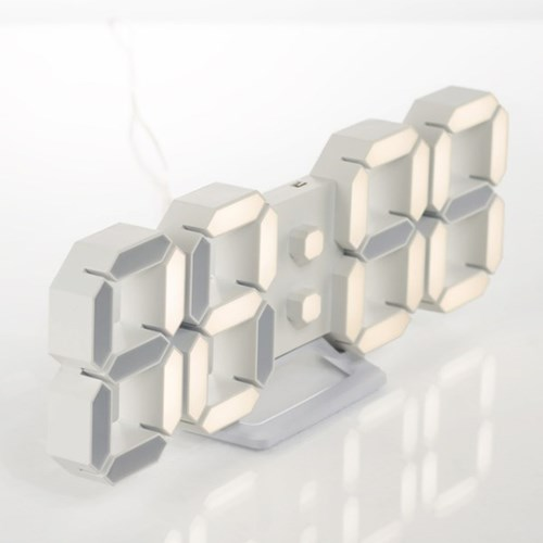 플라이토 3D LED 탁상 벽시계 시즌3 LG전구 25cm 화이트