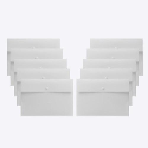 심플리 A4 똑딱이 파일 10p세트(화이트)