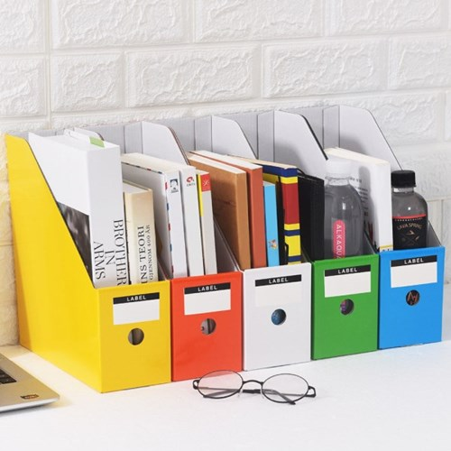 DIY 페이퍼 파일박스 5p세트(컬러)