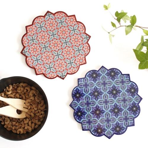 패턴 도자기 냄비받침