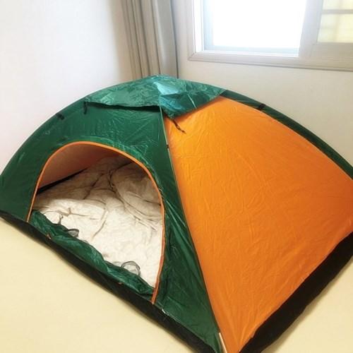 실내 난방 텐트 순간 설치 완전 자동 접이식 2-3인