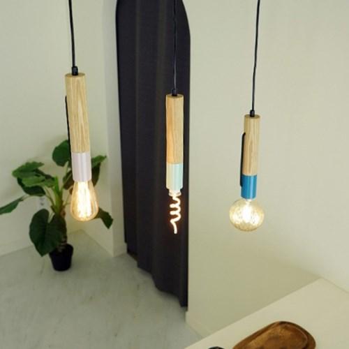 파스텔 1등 LED 원목 식탁 펜던트 조명 3컬러
