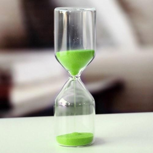 유리 인테리어 모래시계(그린) 30분 반신욕타이머