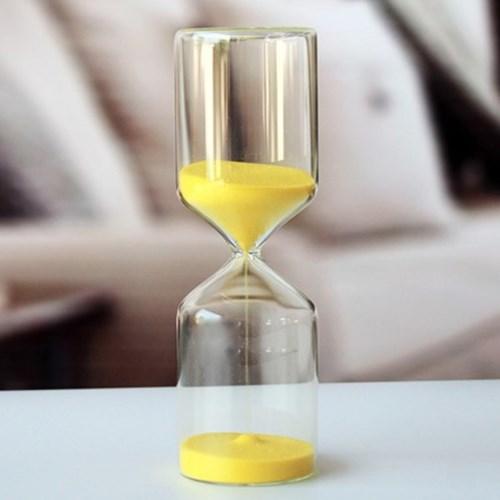 유리 인테리어 모래시계(옐로우) 인테리어소품 30분