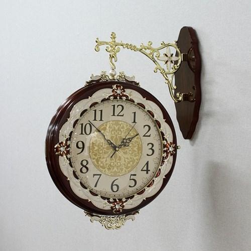 엔티크 회전 양면 벽시계 / 무소음 인테리어시계