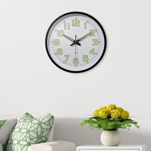 타임글로우 원형 야광 벽시계/거실 디자인 벽걸이시계