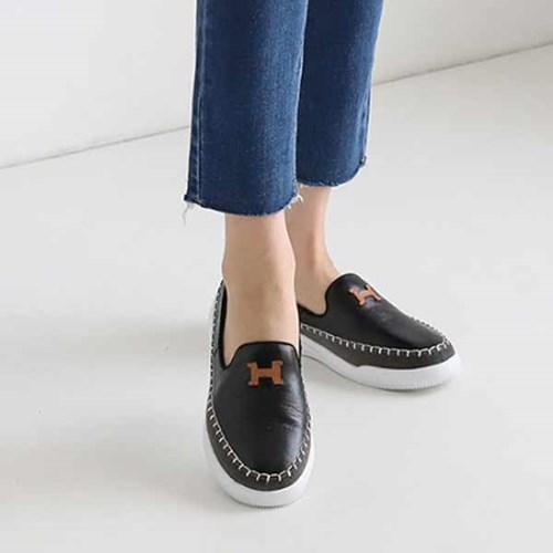 kami et muse Patch & stitch leather sneakers_KM21s005