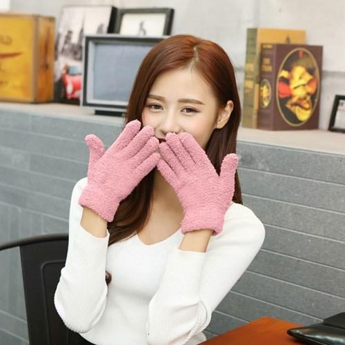 기프트갓 소프트 보온 털장갑(핑크)