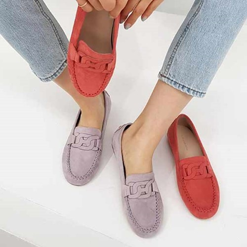 kami et muse Chain suede tall up loafers _KM21s014