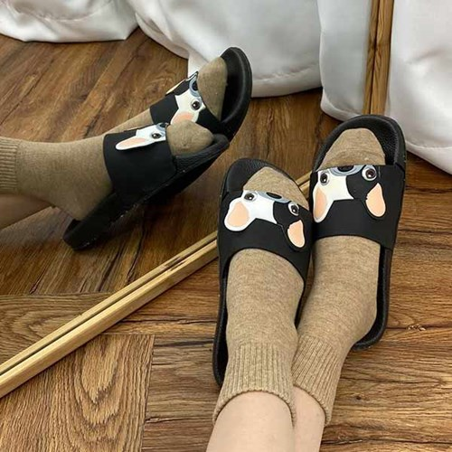 kami et muse Dog face comfort slippers_KM21s023