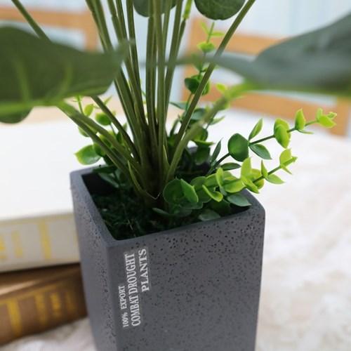 인테리어 인조나무 조화 테라조화분 안시리움 50cm_(2385980)
