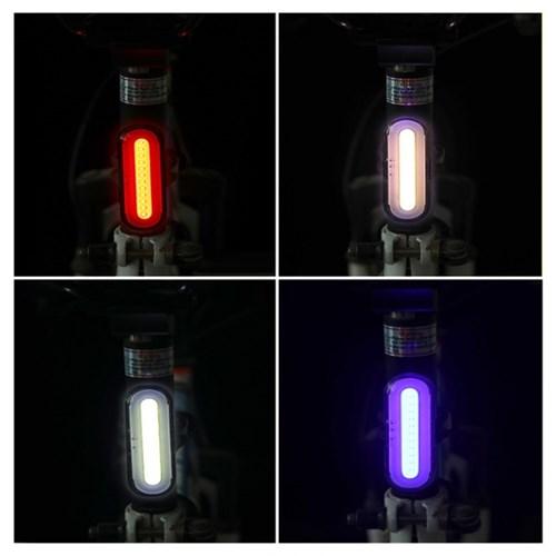 눈뽕급 폴리스 패트롤 스타일 자전거 LED 후미등 USB