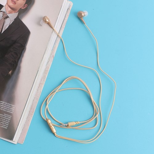 슈퍼 베이스 커널형 이어폰(골드)