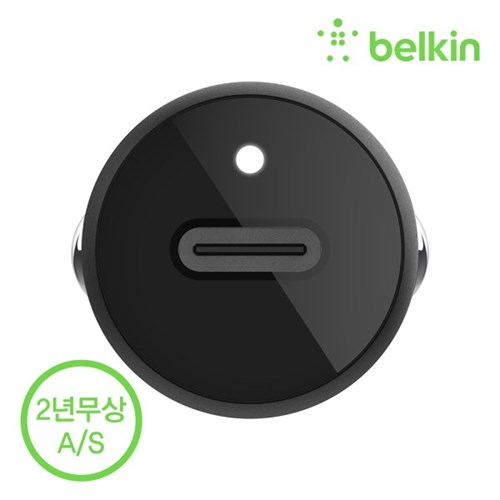 벨킨 18W 차량용 고속 충전기+C to 라이트닝 아이폰 케이블 F7U099bt