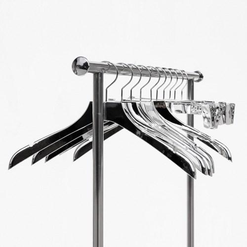 지엔 옷가게 의류매장 실버 플라스틱 어깨홈 옷걸이 고급 바지걸이