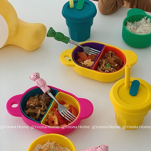 본아페티 레터링 접시 투명 플레이트 그릇 인싸 접시