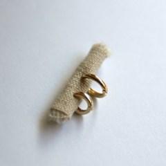 10k gold simple ring earring