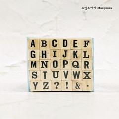 랜섬 알파벳 대문자 세트