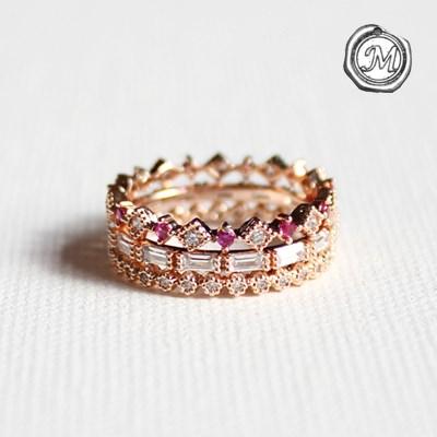 로즈 왕관 3타입 반지 rose crown 3types ring