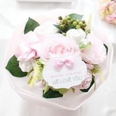 리틀엔젤 핑크 스페셜 아기옷부케(배넷저고리+수면조끼+턱받이)