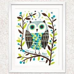 [비롯] Night Owl I 아트프린트 인테리어 그림액자