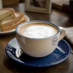 더카페 스탬프 카푸치노 커피잔1인조